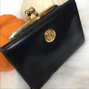 •Vintage• BOSCA French Black Wallet Change Purse